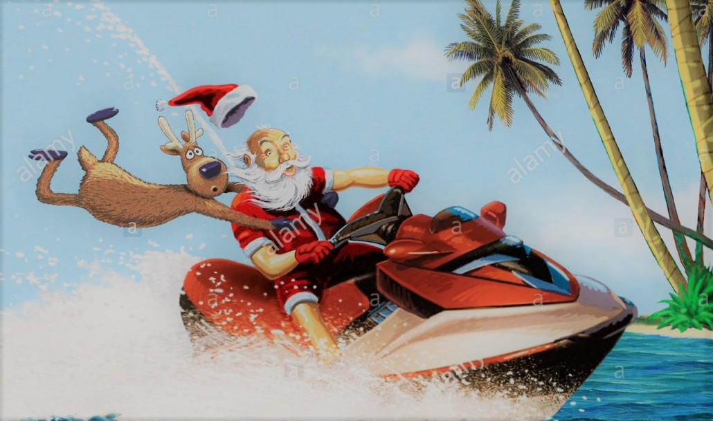 Image Pere Noel En Ski.La Magie De Noel Jet Evasion Pinarello